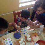 Kézműves foglalkozás, Családok Átmeneti Otthonában, 2014